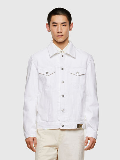 Diesel - NHILL-C1, White - Denim Jackets - Image 1