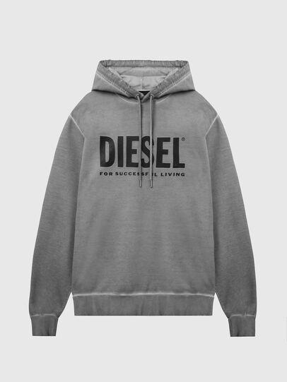 Diesel - S-GIR-HOOD-DIVISION-, Grey - Sweaters - Image 1