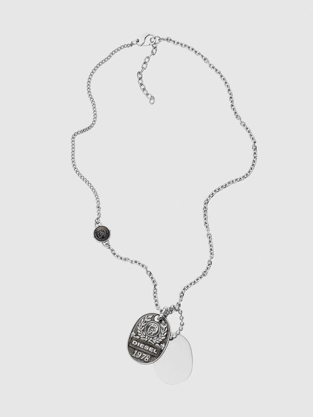 Diesel - DX1106, Silver - Necklaces - Image 1