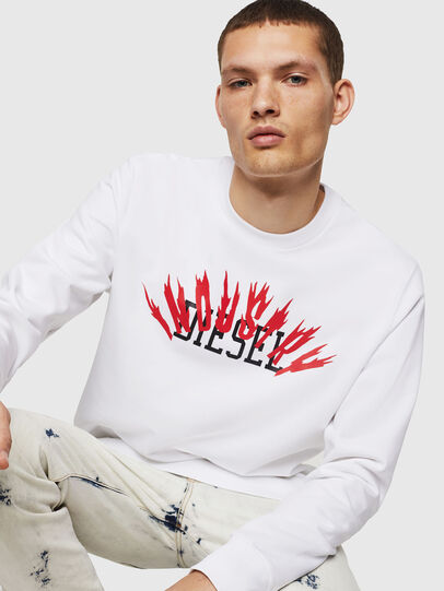 Diesel - S-GIR-A1, White - Sweaters - Image 3