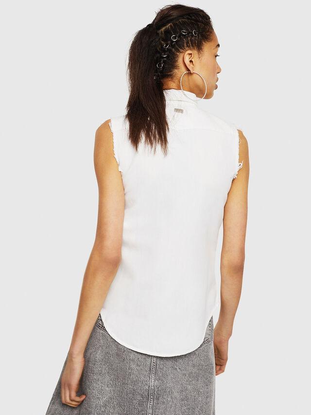 Diesel - DE-LOLLY, White - Denim Shirts - Image 2