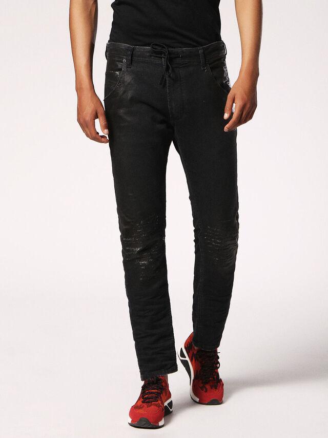 Diesel - KROOLEY CB JOGGJEANS 084JB, Black Jeans - Jeans - Image 1