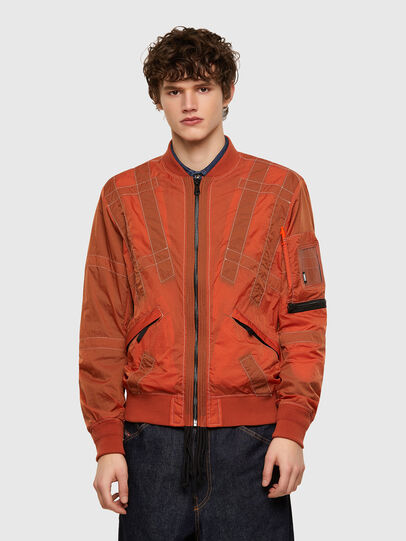 Diesel - J-OLIVE, Orange - Jackets - Image 1