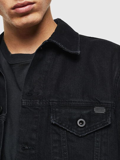 Diesel - D-BRAY, Black - Denim Jackets - Image 3