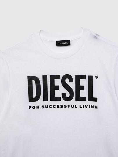 Diesel - TJUSTLOGO ML, White - T-shirts and Tops - Image 3