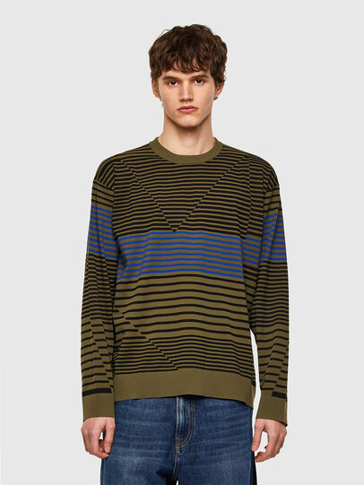 Diesel - K-BALTIC, Blue/Green - Knitwear - Image 1