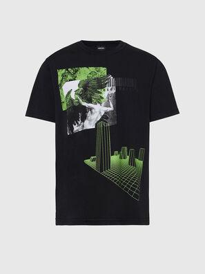 T-JUBIND-SLITS, Black - T-Shirts