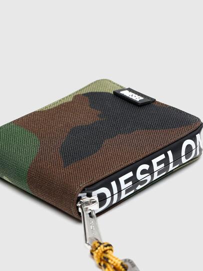 Diesel - HIRESH XS ZIPPI, Multicolor/Brown - Zip-Round Wallets - Image 4