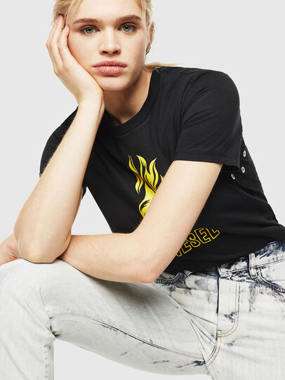 Diesel - T-SILY-WQ, Black/Yellow - T-Shirts - Image 4