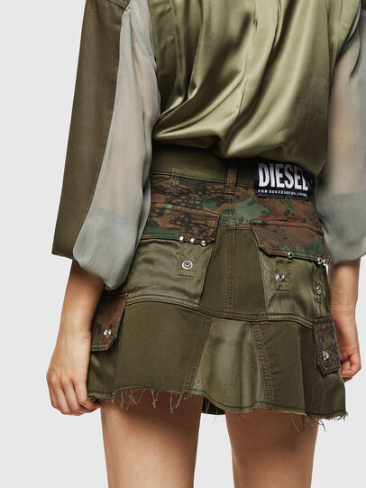 Diesel - O-AMATA, Green Camouflage - Skirts - Image 2