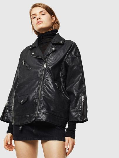 Diesel - D-JINNIUS JOGGJEANS, Black - Denim Jackets - Image 1