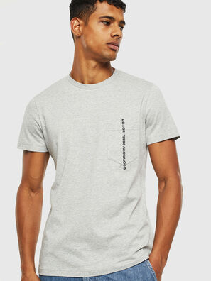 T-RUBIN-POCKET-J1, Light Grey - T-Shirts