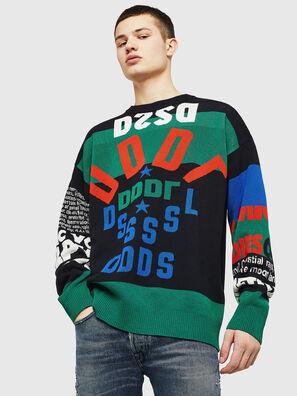 K-RUBLO, Black/Green - Knitwear