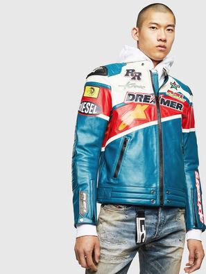 ASTARS-LPATCH-1B, Blue - Leather jackets