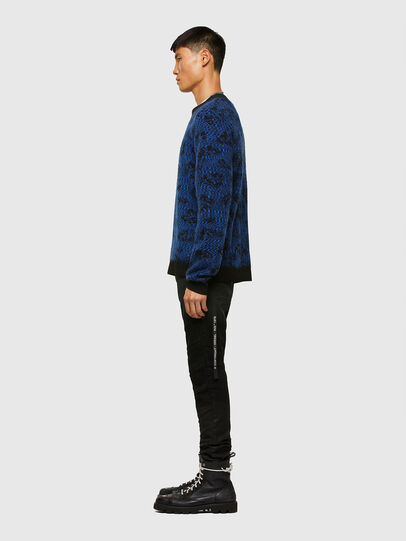 Diesel - K-AZOTIC, Black/Blue - Knitwear - Image 6