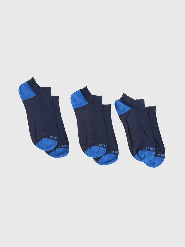 Diesel SKM-GOST-THREEPACK, Indigo - Low-cut socks - Image 1