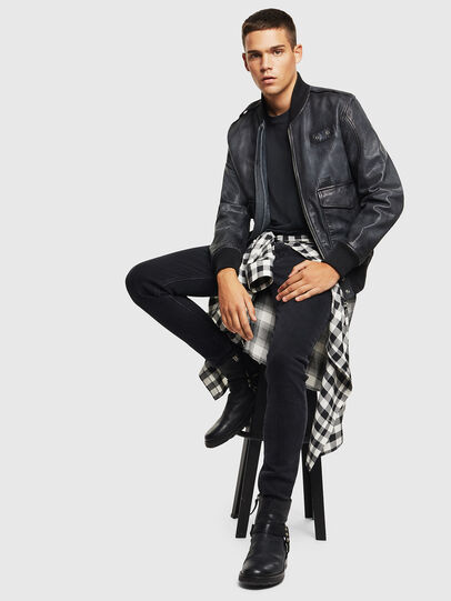 Diesel - L-OIUKI, Black - Leather jackets - Image 7