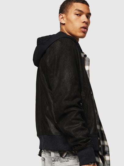 Diesel - L-NIKOLAI, Black - Leather jackets - Image 5