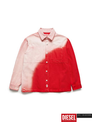 GR02-B301, Red/White - Denim Shirts