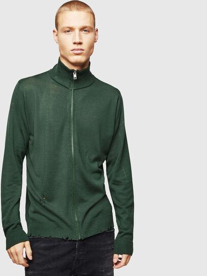 Diesel - K-ECLY, Dark Green - Knitwear - Image 1