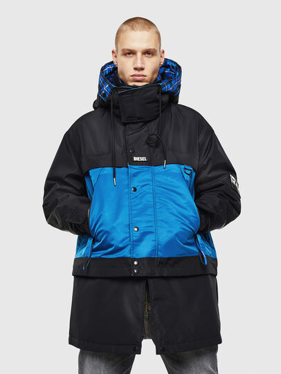 Diesel - W-HELBERT, Black/Blue - Winter Jackets - Image 1