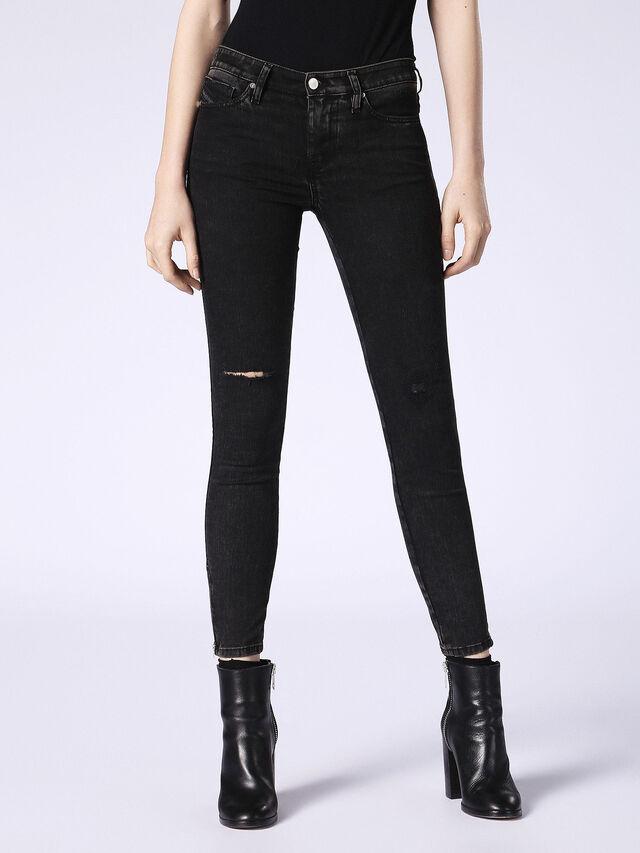 SKINZEE-ZIP 0687G, Black Jeans
