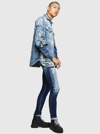 Diesel - Sleenker 0091Y, Medium blue - Jeans - Image 6