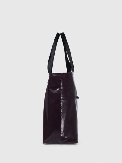 Diesel - F-BOLD SHOPPER III, Dark Violet - Shopping and Shoulder Bags - Image 3