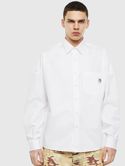 Diesel - S-LOOMY, White - Shirts - Image 1