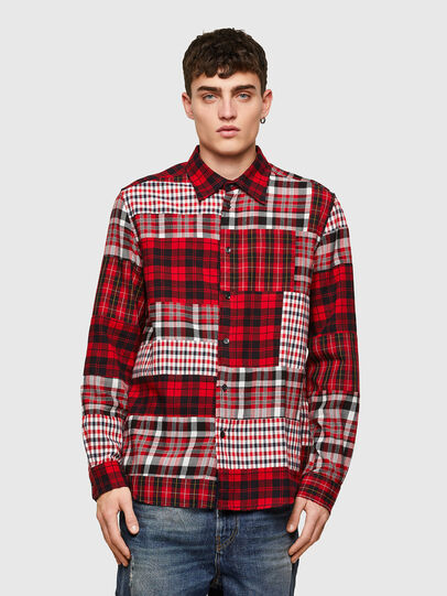 Diesel - S-MORRIS, Red/White - Shirts - Image 1