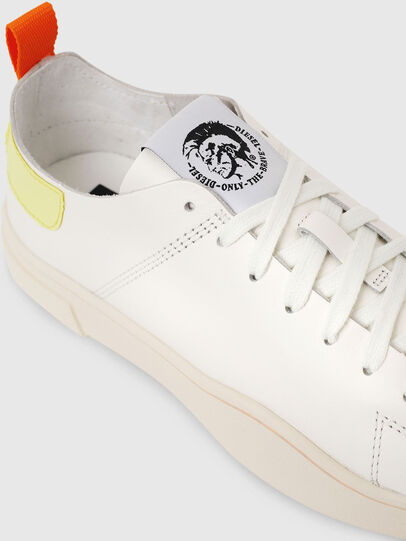 Diesel - S-CLEVER LS W, White/Yellow - Sneakers - Image 4