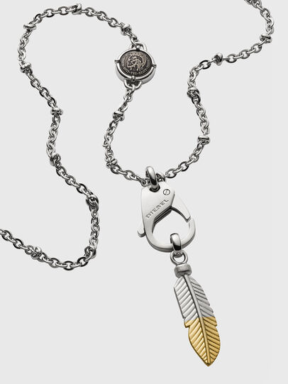 Diesel - DX1204, Silver - Necklaces - Image 2