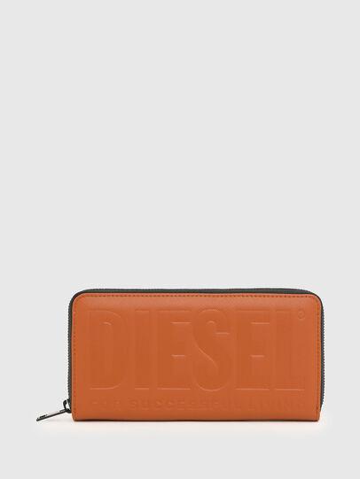 Diesel - 24 ZIP, Orange - Zip-Round Wallets - Image 1