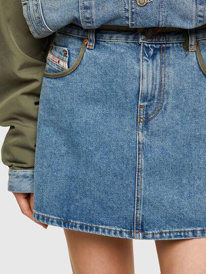 Diesel - DxD-SKIRT, Light Blue - Skirts - Image 4