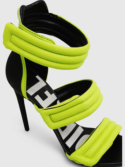 Diesel - SA-SLANTY HST, Yellow Fluo - Sandals - Image 4