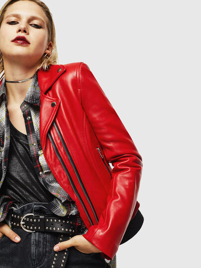 Diesel - L-CARAMA, Red - Leather jackets - Image 5
