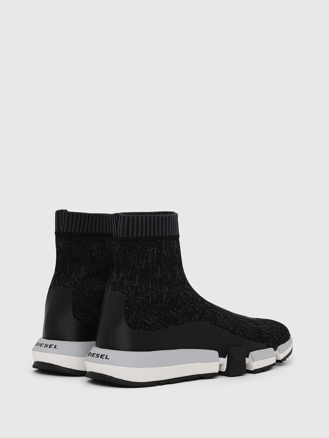 Diesel - H-PADOLA MID SOCK, Black - Sneakers - Image 3