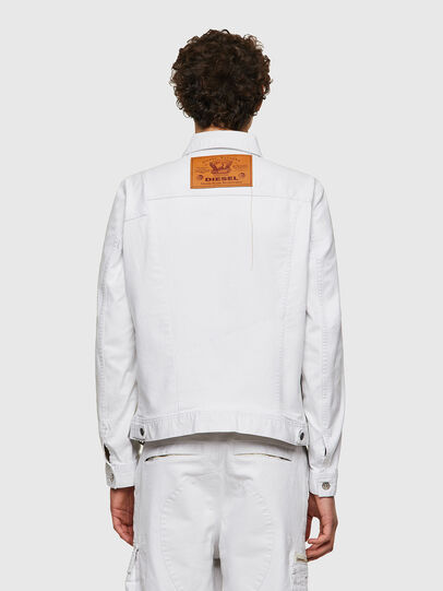 Diesel - D-COSNIL-SP, White - Denim Jackets - Image 2