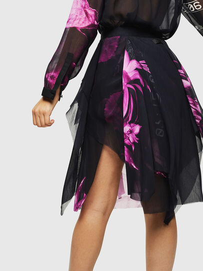 Diesel - O-CERYS, Black/Pink - Skirts - Image 2