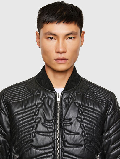 Diesel - L-FUTURE, Black - Leather jackets - Image 3