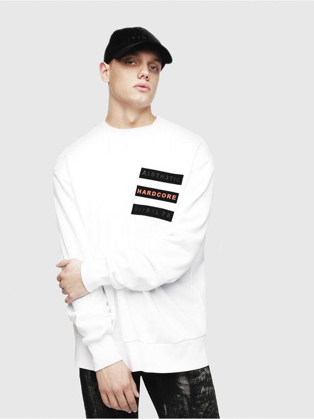 Diesel - S-BAY-YE, White - Sweaters - Image 1