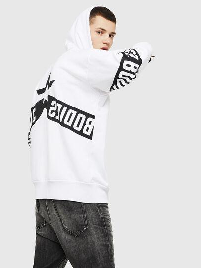 Diesel - S-ALBY-ZIP-A1, White/Black - Sweaters - Image 4