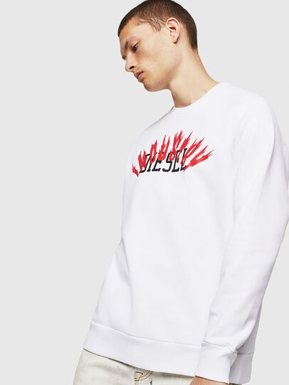 Diesel - S-GIR-A1, White - Sweaters - Image 1