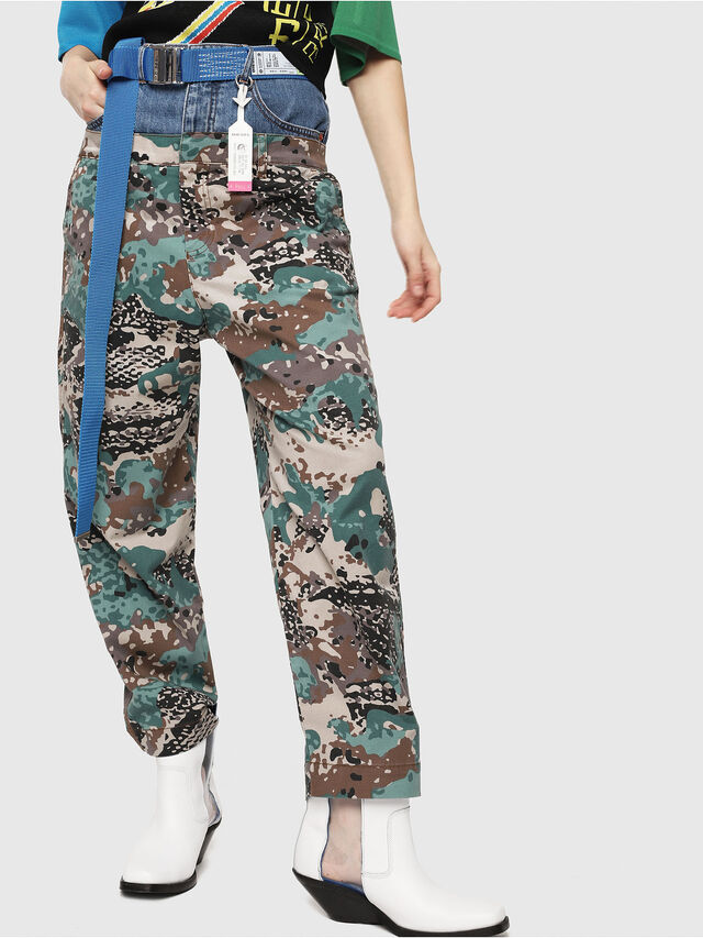 Diesel - P-CALI-A, Green Camouflage - Pants - Image 1