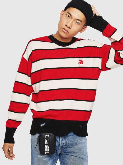 Diesel - K-LOVERY, Red/White - Knitwear - Image 7