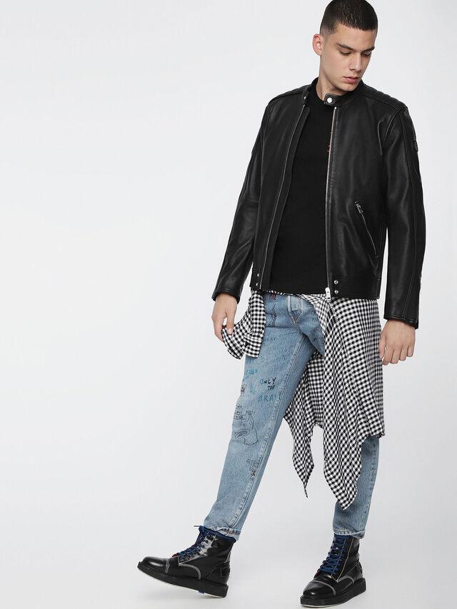 Diesel - L-QUAD, Black Leather - Leather jackets - Image 6