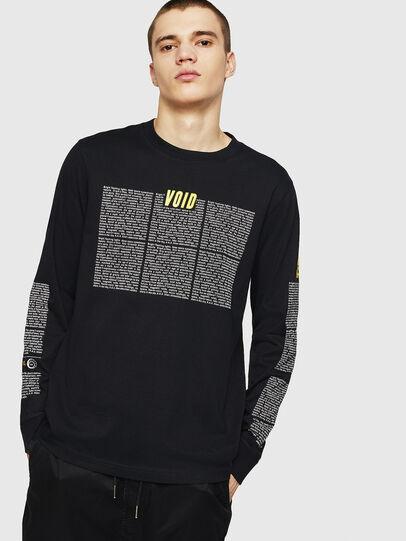 Diesel - T-JUST-LS-NEW, Black - T-Shirts - Image 1