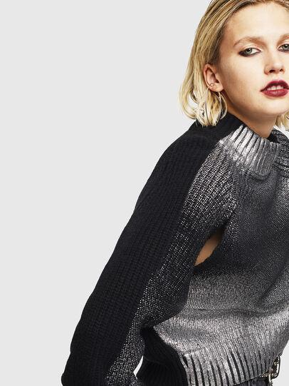 Diesel - M-FOLLY-A, Black/Silver - Knitwear - Image 6