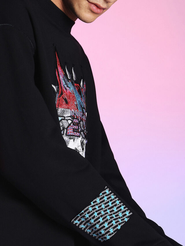 Diesel - LU-S-BAY, Black - Sweaters - Image 6