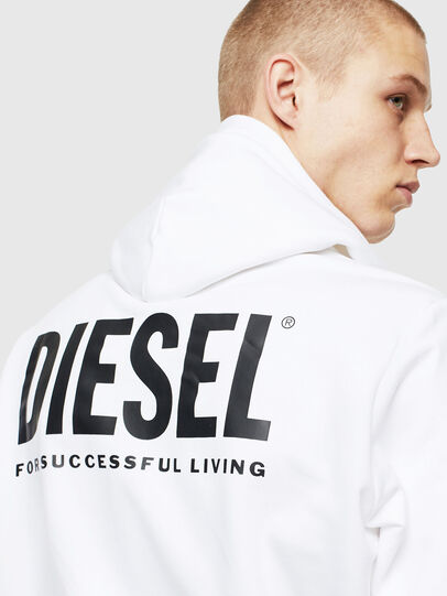 Diesel - S-GIRK-HOOD-ZIP-LOGO, White - Sweaters - Image 5